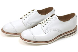 サンダース ミリタリー ダービーシュー ホワイト (Sanders #1680M Derby Shoe White)