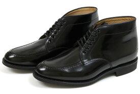 サンダース ミリタリー エプロンダービーブーツ ブラック (Sanders #1815 Apron Derby Boots Black)