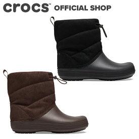【クロックス公式】クロックバンド パフ ブーツ crocband puff boot/レディース ブーツ【PR1】