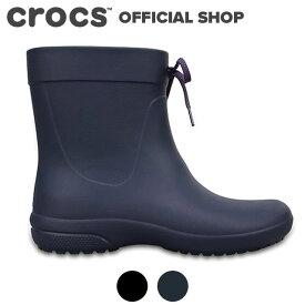 【クロックス公式】フリーセイル ショーティー レイン ブーツ ウィメン Freesail Shorty Rain Boot/ crocs レディース レインブーツ 長ぐつ 長靴 ショート ベストセラー 【PR1】