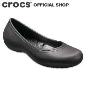【クロックス公式】アット ワーク フラット ウィメン Crocs At Work Flat / crocs ワークシューズ 業務用 パンプス フラットシューズ レディース 【NO】