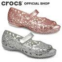 【クロックス公式】イザベラ フラワー フラット キッズ Isabella Flower Flat Kids / crocs パンプス フラットシュー…