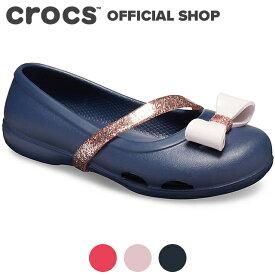 【クロックス公式】リナ チャーム フラット キッズ Lina Charm Flat Kids / crocs パンプス フラットシューズ 【PR3】