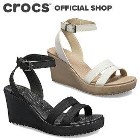 【クロックス公式】レイ サンダル ウェッジ ウィメン Leigh Sandal Wedge / crocs レディース 【PR1】