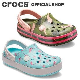 【クロックス公式】クロックバンド マルチ グラフィック クロッグ キッズ Kids' Crocband Multi-Graphic Clog / crocs サンダル 定番 【OOL】