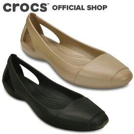 【クロックス公式】シエンナ フラット / crocs パンプス フラットシューズ レディース アウトレット outlet 【PR2】