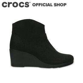 【クロックス公式】レイ シンセティック スエード ウェッジ ブーティ ウィメン / crocs レディース ブーツ