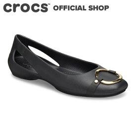 【クロックス公式】スローン エンベリッシュド フラット ウィメン Sloane Embellished Flat / crocs レディース パンプス フラットシューズ【PR2】