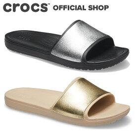 【クロックス公式】クロックス スローン シャイン ロー スライド ウィメン Crocs Sloane Shine Low Slide W / crocs レディース スポーツサンダル 定番【PR2】