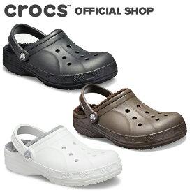 【クロックス公式】レイレン ラインド クロッグ Ralen Lined Clog / crocs レディース メンズ サンダル ボア付 冬 アウトレット outlet 【NO】