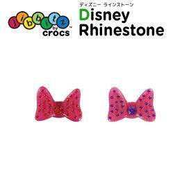 ジビッツ(jibbitz) ディズニー ラインストーン(Disney Rhinestone) クロックス/シューズアクセサリー/ミッキー/ミニー[RED][C/A-2]