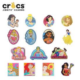ジビッツ(jibbits) ディズニー プリンセス(Disney Princess) 白雪姫/シンデレラ/アリエル/他/クロックス/シューズアクセサリー/キャラクター[RED][C/A-2]