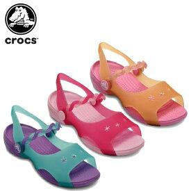 【送料無料対象外】クロックス(crocs) エメリナ サンダル ガールズ(Emelina Sandal Girls) キッズ/サンダル/シューズ/子供用[C/A]【65】