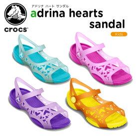 【送料無料対象外】クロックス(crocs) アドリナ ハート サンダル(adrina hearts sandal) キッズ/サンダル/シューズ/子供用[C/A]【60】