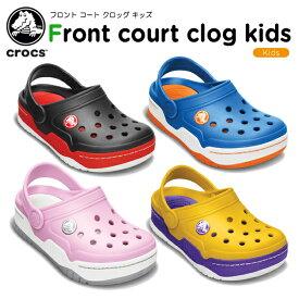 【50%OFF】クロックス(crocs) フロント コート クロッグ キッズ(front court clog kids ) キッズ/サンダル/シューズ/子供用/子供靴/ベビー[C/A]