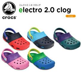 【送料無料対象外】【50%OFF】クロックス(crocs) エレクトロ 2.0 クロッグ(electro 2.0 clog) キッズ/サンダル/子供用[H][C/B]