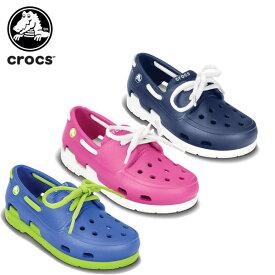 【送料無料対象外】【50%OFF】クロックス(crocs) ビーチライン ボート シュー レース PS(beach line boat shoe lace PS) キッズ/スニーカー/シューズ/子供用[C/A]