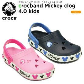 【30%OFF】クロックス(crocs) クロックバンド ミッキー クロッグ 4.0 キッズ(crocband Mickey clog 4.0 kids)ディズニー/キッズ/サンダル/シューズ/子供用[C/A]