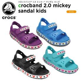【40%OFF】クロックス(crocs) クロックバンド 2.0 ミッキー サンダル キッズ(crocband 2.0 Mickey sandal kids) キッズ/サンダル/子供用[C/A]