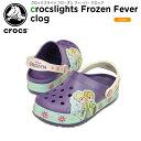 【39%OFF】クロックス(crocs) クロックスライツ フローズン フィーバー クロッグ(crocslights Frozen Fever clog)/キッズ/サンダル/シューズ/子供用[r][C
