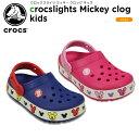 【33%OFF】クロックス(crocs) クロックスライツ ミッキー クロッグ キッズ(crocslights Mickey clog kids)ディズニー/キッズ/サンダル/シューズ/子供用[r][