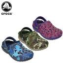 【20%OFF】クロックス(crocs) クラシック ラインド グラフィック クロッグ キッズ(classic lined graphic clog kids)/キッズ/サンダル/シューズ/子供用[r