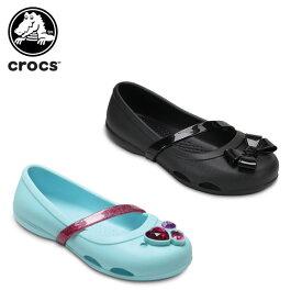 【ポイント10倍】クロックス(crocs) クロックス リナ フラット キッズ(crocs lina flat kids) キッズ/サンダル/子供用[H][C/A]