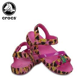 【40%OFF】クロックス(crocs) クロックス リナ ライツ サンダル キッズ(crocs lina lights sandal kids) キッズ/サンダル/シューズ/子供用[C/A]