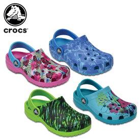 【送料無料対象外】【45%OFF】クロックス(crocs) クラシック グラフィック クロッグ キッズ(classic graphic clog kids) キッズ/サンダル/シューズ/子供用[C/A]