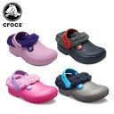 【22%OFF】クロックス(crocs) クラシック ブリッツェン 3.0 クロッグ キッズ(classic blitzen 3.0 clog kids) キッズ/ボア/サンダル/シューズ/子供用[C/A]【ポイント10倍対象外】