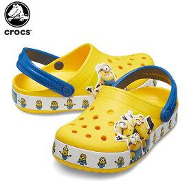 【25%OFF】クロックス(crocs) クロックス ファン ラブ ミニオンズ マルチ クロッグ キッズ(crocs fun lab Minions multi clog kids) キッズ/サンダル/シューズ/子供[C/A]