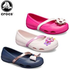 【20%OFF】クロックス(crocs) クロックス リナ チャーム フラット キッズ(crocs lina charm flat kids ) キッズ/サンダル/子供用[H][C/A]