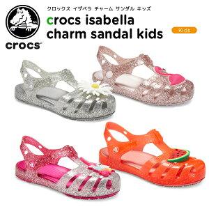 【30%OFF】クロックス(crocs) クロックス イザベラ チャーム サンダル キッズ(crocs isabella charm sandal kids) キッズ/サンダル/シューズ/子供用[C/A]