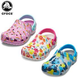 【25%OFF】クロックス(crocs) クラシック シーズナル グラフィック クロッグ キッズ(classic seasonal graphic clog K) キッズ/サンダル/シューズ/子供用[C/A]