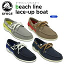 【16%OFF】クロックス(crocs) ビーチライン レースアップ ボート(beach line lace-up boat)/メンズ/男性用/スニーカー/シュ...