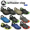 【25%OFF】クロックス(crocs) スウィフトウォーター クロッグ(swiftwater clog) /メンズ/男性用/サンダル/シューズ/[r][C/B]