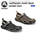 クロックス(crocs) スウィフトウォーター メッシュ デック サンダル メン(swiftwater mesh deck sandal men) メンズ/…