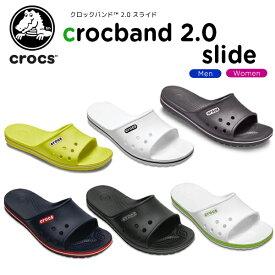 【15%OFF】クロックス(crocs) クロックバンド 2.0 スライド(crocband 2.0 slide) メンズ/レディース/男性用/女性用/サンダル/シューズ[H][C/A]