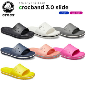 【15%OFF】クロックス(crocs) クロックバンド 3.0 スライド(crocband 3.0 slide) メンズ/レディース/男性用/女性用/サンダル/シューズ[C/B]