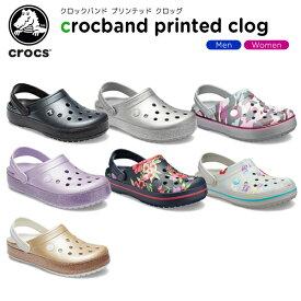 クロックス(crocs) クロックバンド プリンテッド クロッグ(crocband printed clog) メンズ/レディース/男性用/女性用/サンダル/シューズ[C/B]