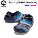 【27%OFF】クロックス(crocs) クラシック プリンテッド ラインド クロッグ(classic printed lined clog) メンズ/レデ…