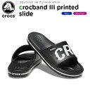 【ポイント10倍】クロックス(crocs) クロックバンド 3.0 プリンテッド スライド(crocband 3.0 printed slide) メンズ/レディース/男性用/女性用/サンダル/シューズ[C/B]