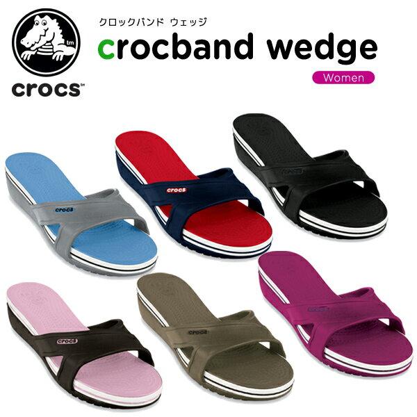 クロックス(crocs) クロックバンド ウェッジ (crocband wedge) /レディース/女性用/サンダル/ウェッジサンダル/シューズ/[r][C/A]【50】【ポイント10倍対象外】