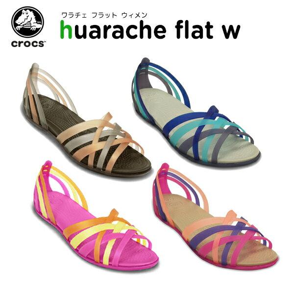 【40%OFF】クロックス(crocs) ワラチェ フラット ウィメン(huarache flat w) /レディース/女性用/サンダル/シューズ/フラットシューズ/[r][C/A]【ポイント10倍対象外】