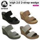【33%OFF】クロックス(crocs) レイ 2.0 2ストラップ ウェッジ ウィメン(leigh 2.0 2-strap wedge w) /レディース/女...