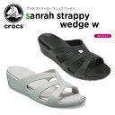 クロックス(crocs) サンラ ストラッピー ウェッジ ウィメン(sanrah strappy wedge w) /レディース/女性用/シューズ/サンダル[r...