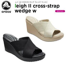 【20%OFF】クロックス(crocs) レイ 2.0 エックス ストラップ ウェッジ ウィメン(leigh 2.0 x-strap wedge w) レディース/女性用/ウェッジヒール/サンダル/シューズ[C/B]