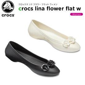 【25%OFF】クロックス(crocs) クロックス リナ フラワー フラット ウィメン(crocs lina flower flat w) レディース/女性用/シューズ/フラットシューズ[C/A]