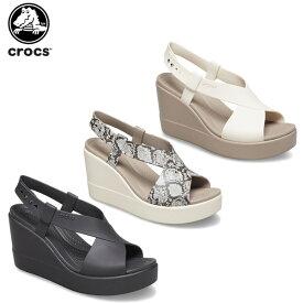 【10%OFF】クロックス(crocs) クロックス ブルックリン ハイ ウェッジ ウィメン(crocs brooklyn high wedge w) レディース/女性用/シューズ/サンダル[C/A]