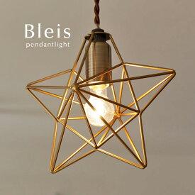 ペンダントライト 【Bleis/スター】1灯 照明 飾り 電気 子供部屋 モビール レトロ おしゃれ 星形 星型 ほし かわいい パーティ